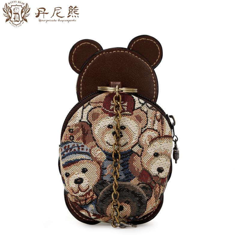 丹尼熊新款手包可爱小熊零钱包 精灵熊女生手拎手拿包DBWB155138