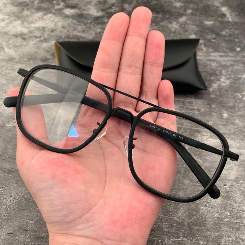 宝剑克罗心眼镜框复古方形大脸佩戴平光双梁陈伟霆近视男女眼镜架