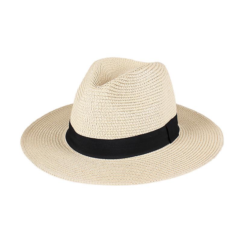 帽子男夏天潮旅游度假沙滩宽沿防晒太阳男士遮阳礼帽巴拿马草帽女