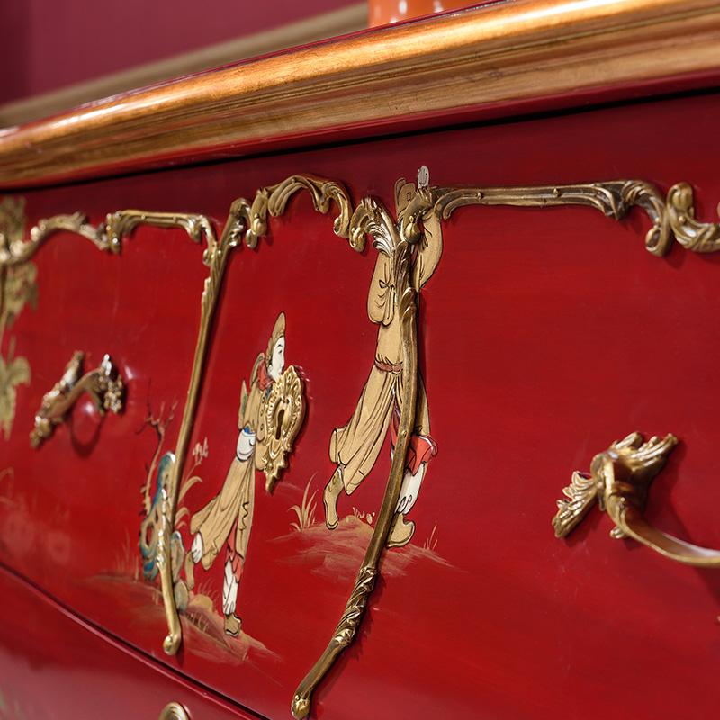 卫诗理TW 英式新古典实木玄关柜 客厅储物柜收纳柜展示柜家具AN