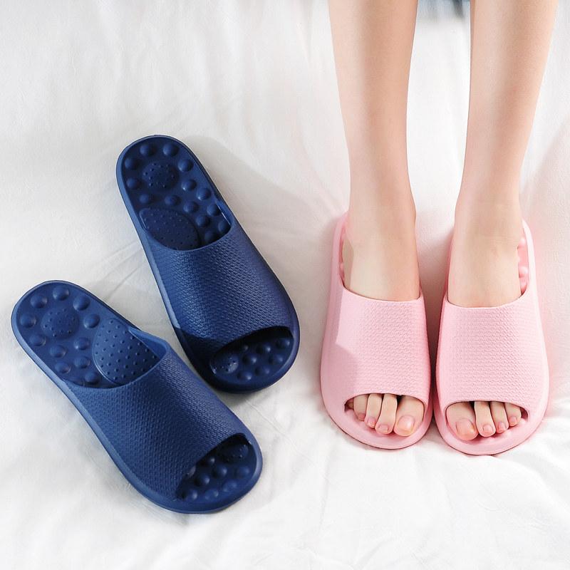 拖鞋女夏季室内情侣软底家居家用厚底男士揉按洗澡防滑浴室凉拖鞋