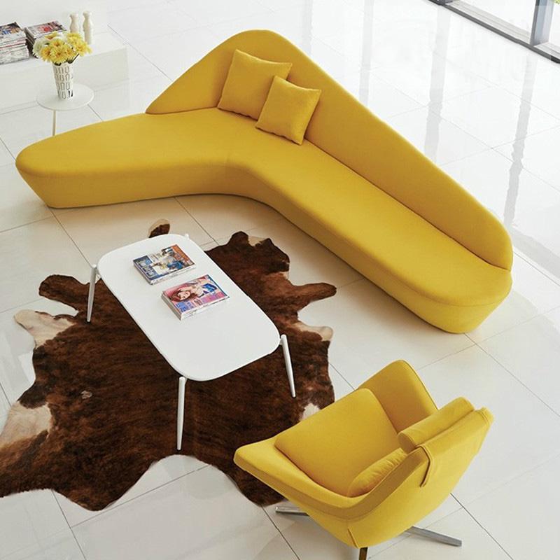 大堂月亮沙发西皮 创意沙发组合 圆型沙发弧形异形 酒店大厅沙发