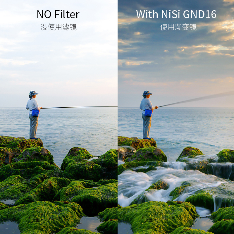 NiSi耐司GND16渐变灰67、72、77、82mm微单单反相机滤镜日出日落