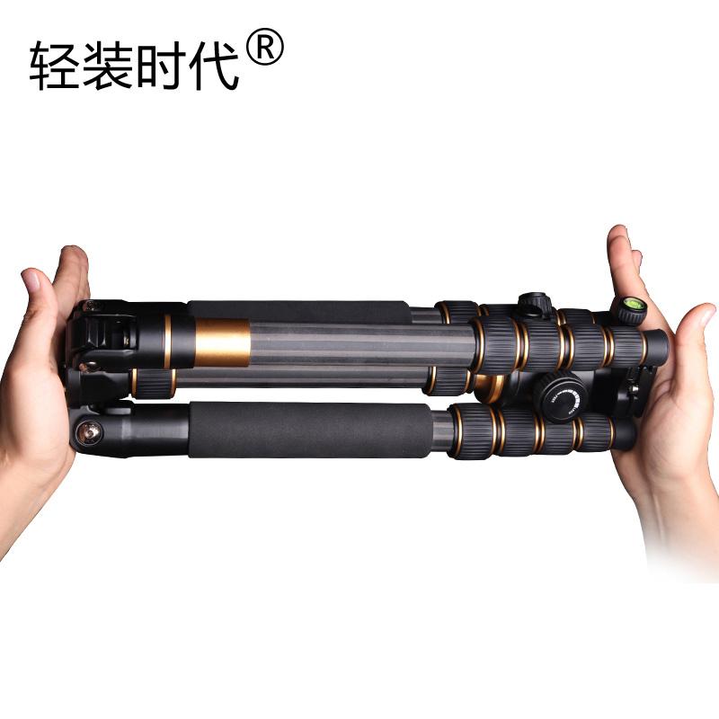 轻装时代碳纤维三脚架佳能5D3 5D4 6D2 80D 800D尼康D810 D7500索尼富士单反相机便携支架手机摄影轻便三角架