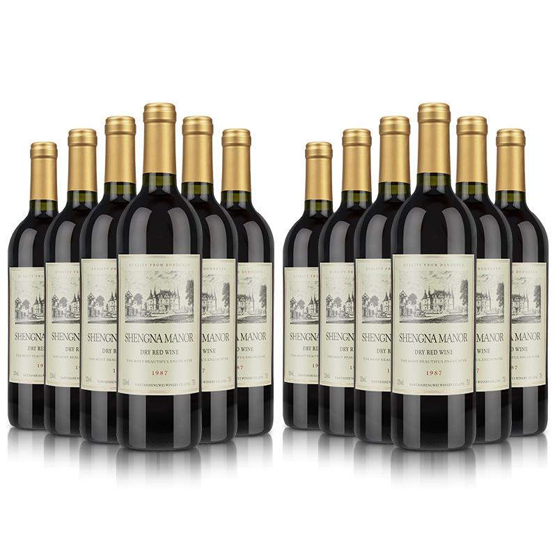 法国原酒进口干红葡萄酒 支 12 买一箱送一箱红酒整箱装共 盛纳古堡