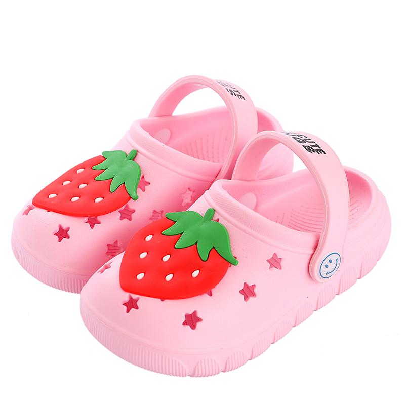 儿童拖鞋夏男女童防滑沙滩鞋中大童卡通洞洞鞋包头软底宝宝凉拖鞋