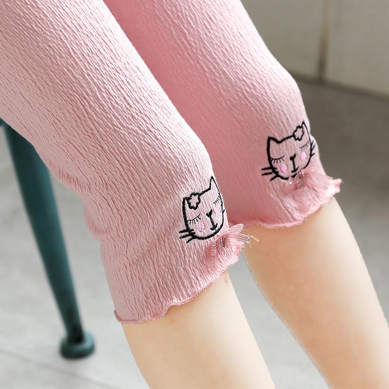 女童打底裤夏天薄款七分裤中大童裤子女孩夏季外穿超薄儿童短裤