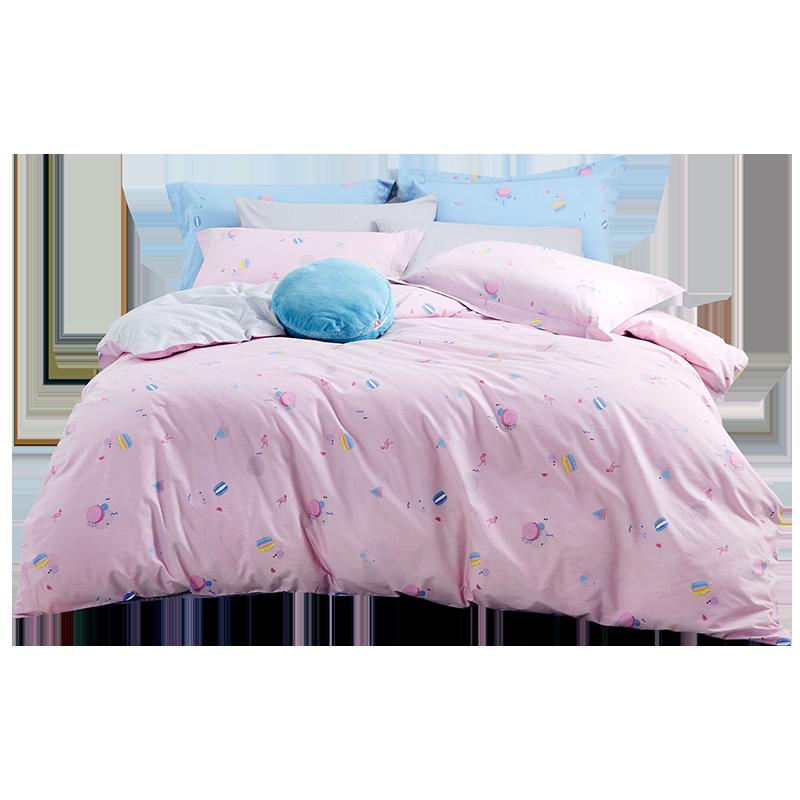 罗莱家纺床上用品秋冬全棉纯棉床单被套单双人1.8m床四件套梦 (¥599)