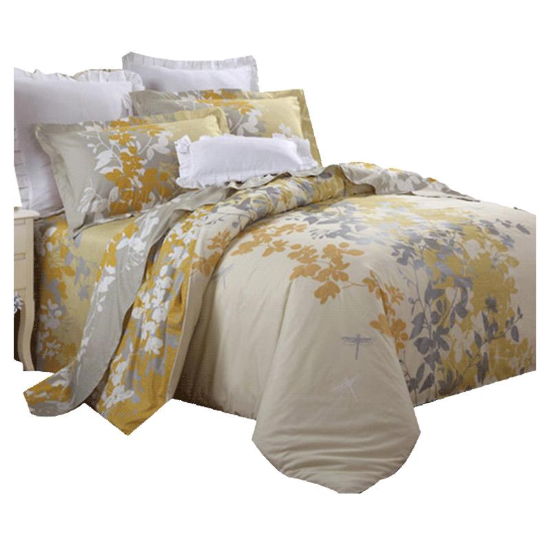 床双人床套件 1.8m 米 1.5 罗莱家纺纯棉被套床单床上用品四件套全棉