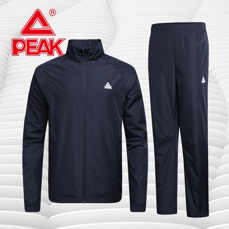 匹克运动套装男秋装2020春夏季加绒户外休闲装速干跑步男士运动服