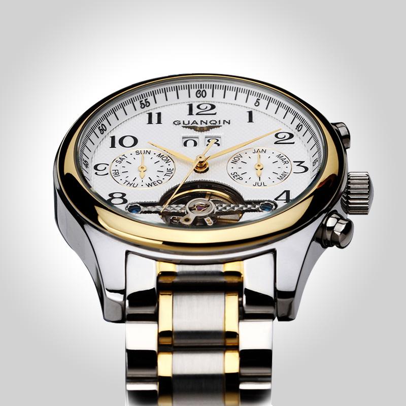 高端大气陀飞轮机械男表全自动精钢皮带男士手表男潮学生品质腕表