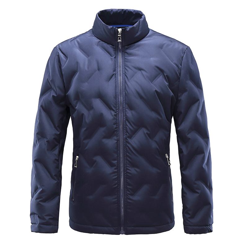 比菲力无缝羽绒服男轻薄短款90白鸭绒青年修身2019冬季新款外套