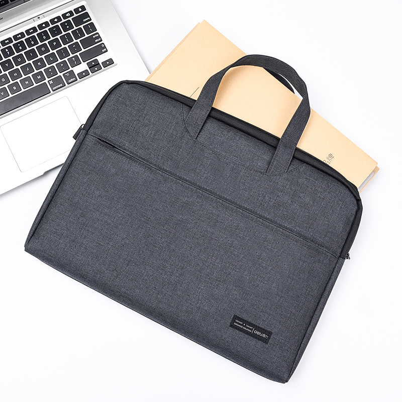 Tutorial Package Briefcase Information Package Color : Red Canvas Student Bag Student Portable File Bag