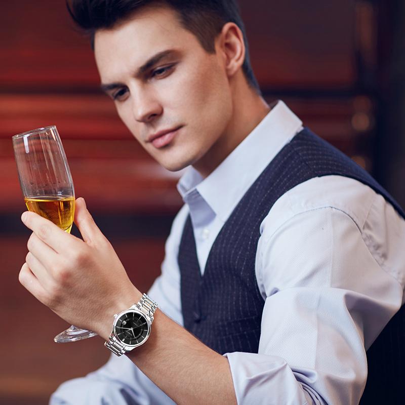 罗西尼男手表机械表新款启迪系列商务品牌正品腕表男士手表616725