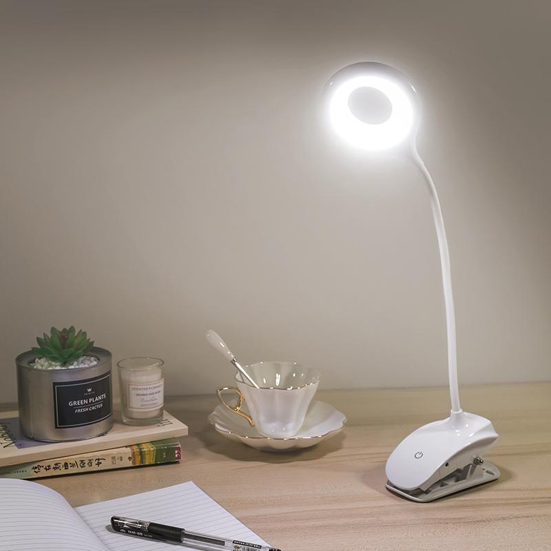 充电小台灯 充插两用led夹式台灯护眼学习卧室床头书桌USB夹子灯
