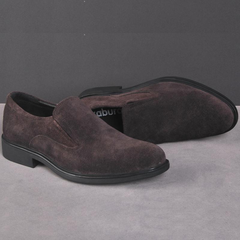 凯步罗英伦磨砂皮商务男鞋反绒真皮单鞋低帮鞋男士皮鞋牛皮正装鞋