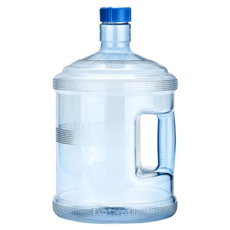 加厚PC桶装纯净水桶装水5升饮水机桶小型家用矿泉水桶手提带盖子