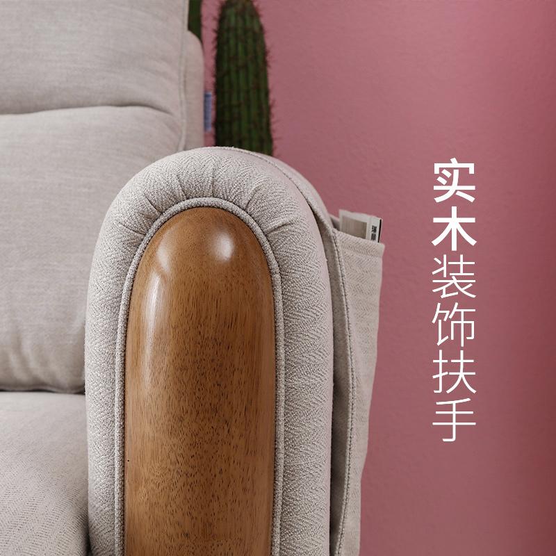 双虎家私 北欧沙发小户型布艺沙发组合客厅现代简约整装沙发101
