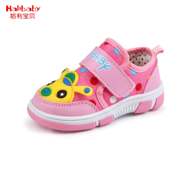 哈利宝贝童鞋宝宝春季学步鞋1-3岁儿童休闲单鞋男女童学步鞋透气