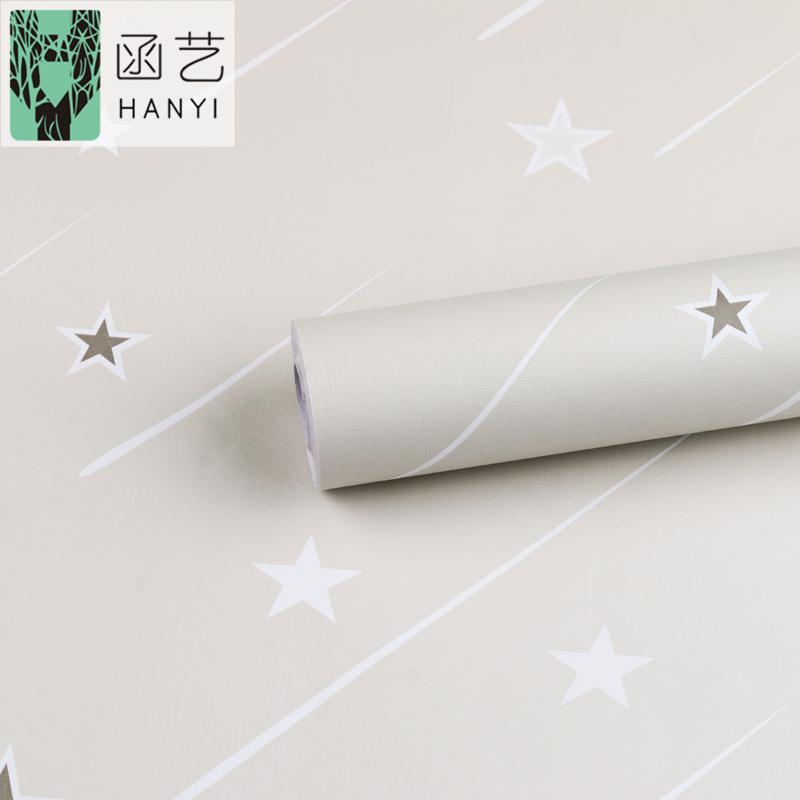 墻紙自粘臥室溫馨壁紙星空兒童房間宿舍天花板裝飾背景墻貼紙星星