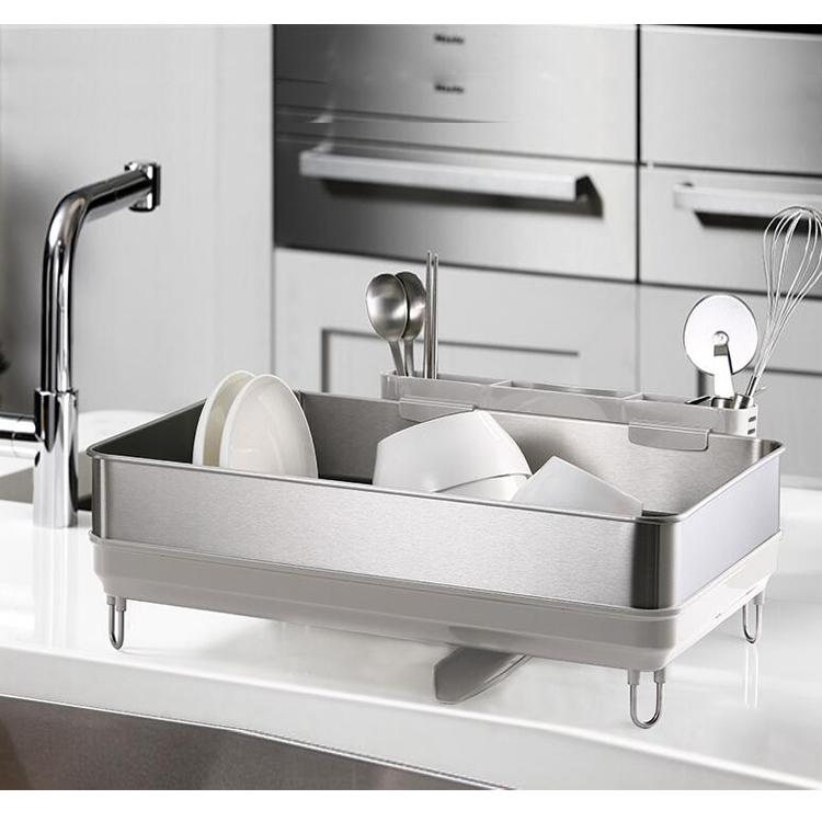 韓國 廚房不鏽鋼碗架瀝水架 收納置物架 瀝碗架砧板 碗碟架