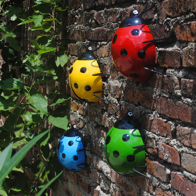 铁艺壁挂花园墙面装饰庭院美式乡村创意挂件现代简约动物甲壳虫