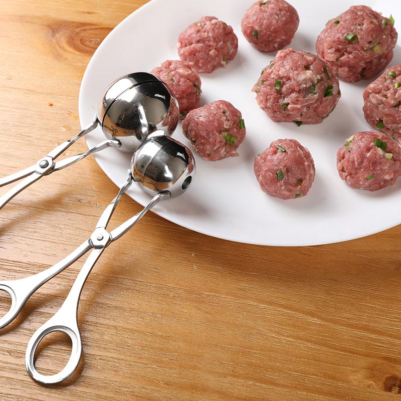 不锈钢肉丸子制作器做丸子厨房神器炸肉圆汆丸子小工具饭团夹模具