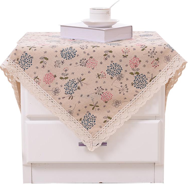 床头柜盖布家用卧室床头柜罩小桌布防尘盖巾简约现代棉麻床头柜套