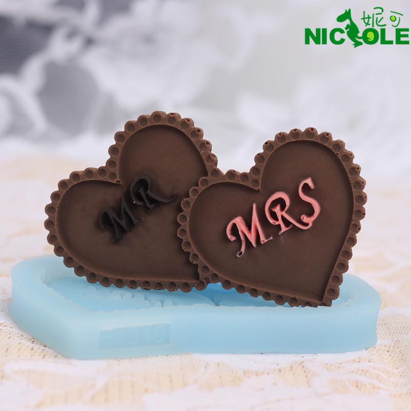 妮可硅胶模具卡通巧克力蛋糕饼干模具烘焙工具翻糖慕斯迷你模具