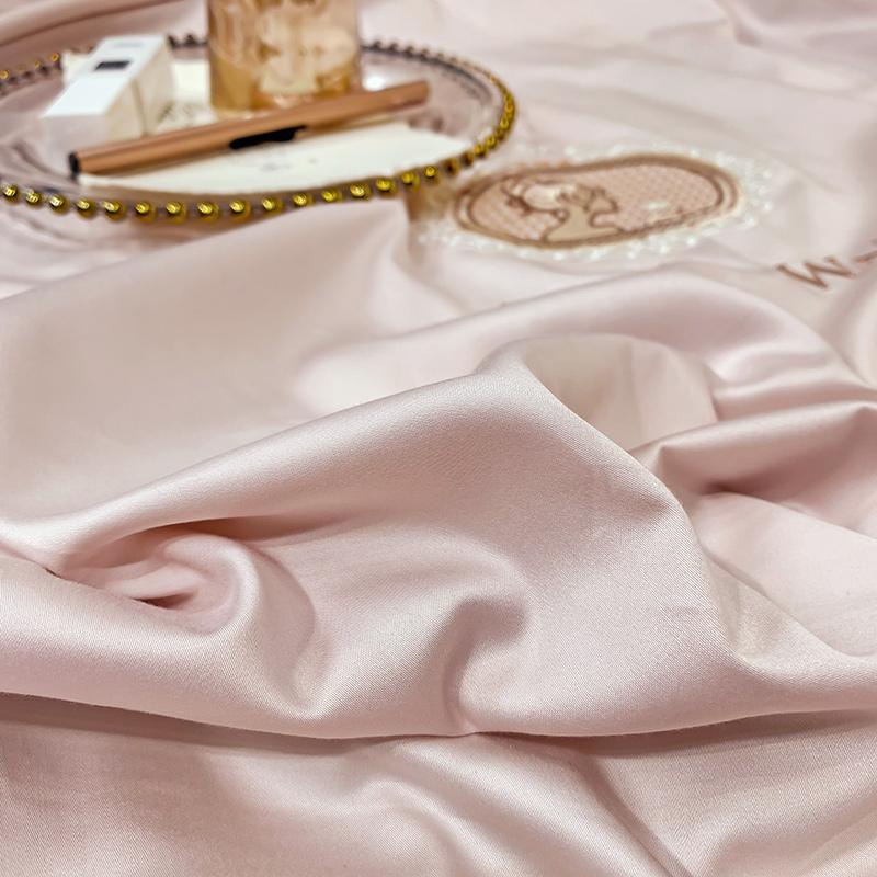 4 支长绒棉轻奢风四件套全棉纯棉欧式简约床单被套床上用品 100 高端