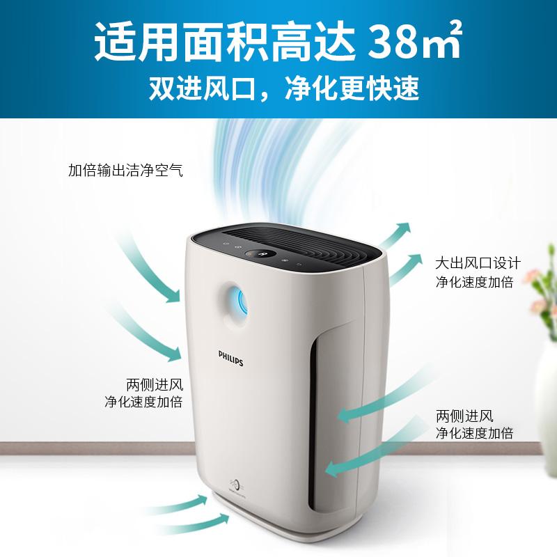 飞利浦空气净化器家用除甲醛二手烟尘雾霾AC2880卧室pm2.5静音