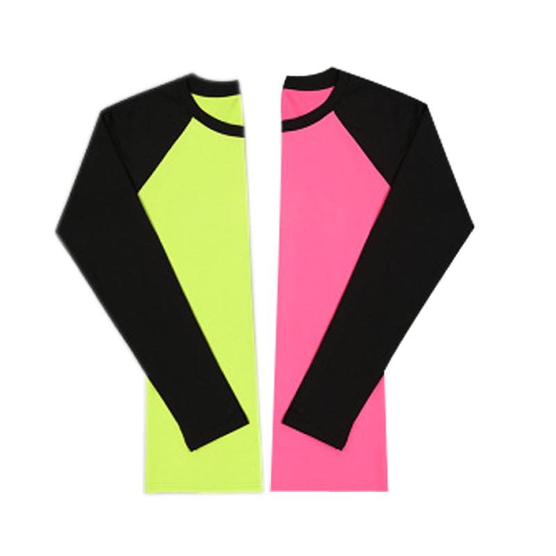 特价春夏季长袖瑜伽服上衣健身房跑步服运动女紧身衣速干单件上装