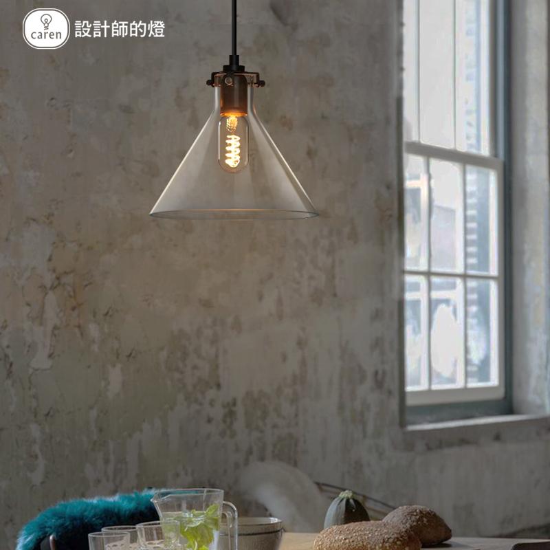 灯欧式现代简约艺术个姓餐厅创意吧台单头吊灯水晶漏斗灯 设计师