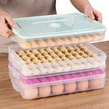 Dumpling Box Frozen Dumpling Box Household Refrigerator Fresh Storage Box Multi-layer Tray Quick Frozen Dumpling Box Egg Box