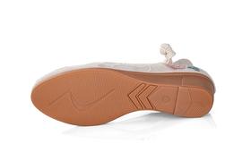 春秋款坡跟单鞋老北京布鞋女鞋 中跟民族风绣花鞋 古典汉服鞋