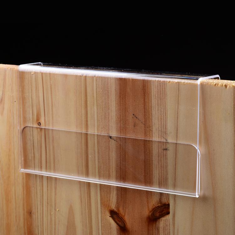 亚克力透明挂式座位办公桌职位牌玻璃木挡板隔断单双面工位牌定制