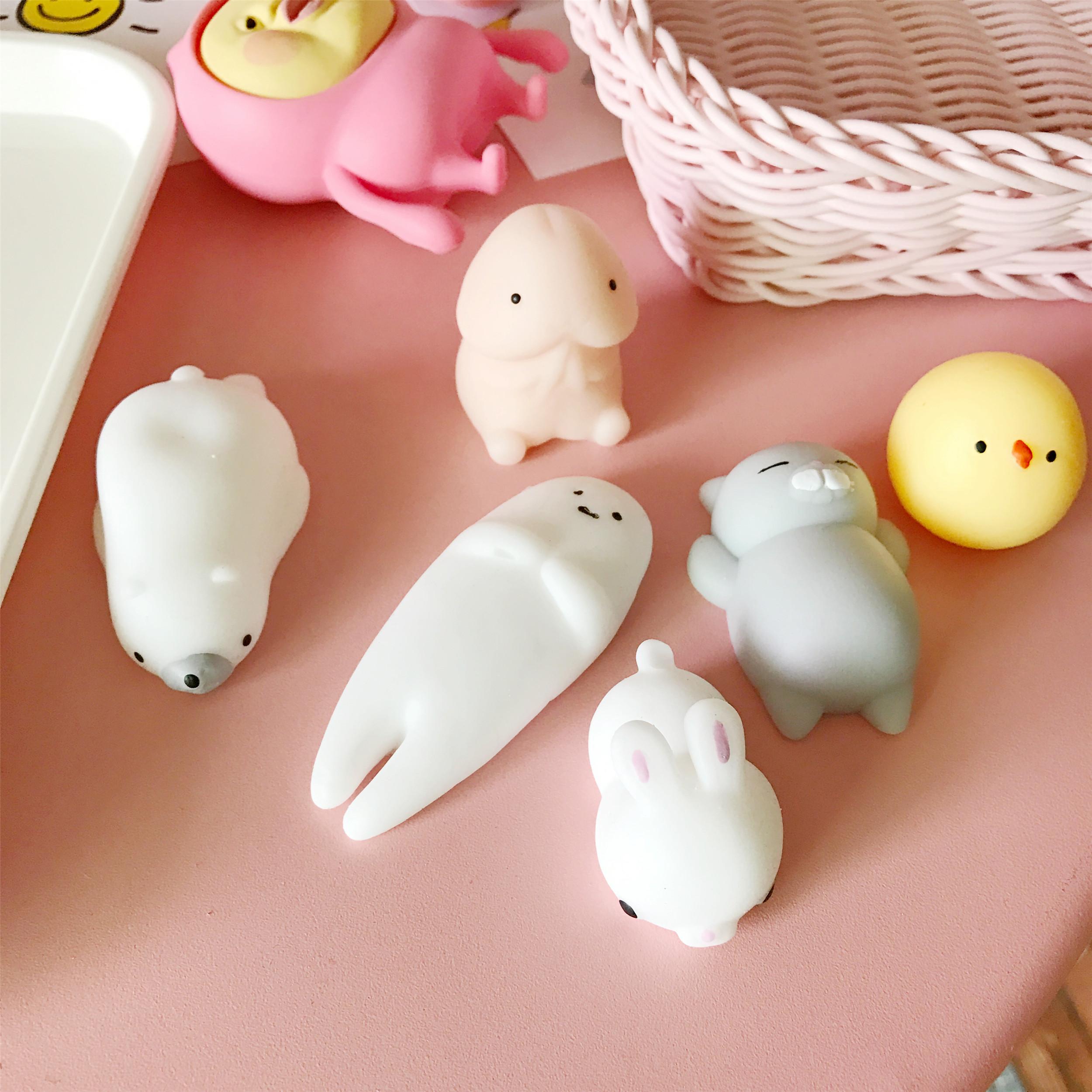 日系卡通动物创意礼物可爱解压舒压捏捏乐萌系发泄球减压玩具摆件