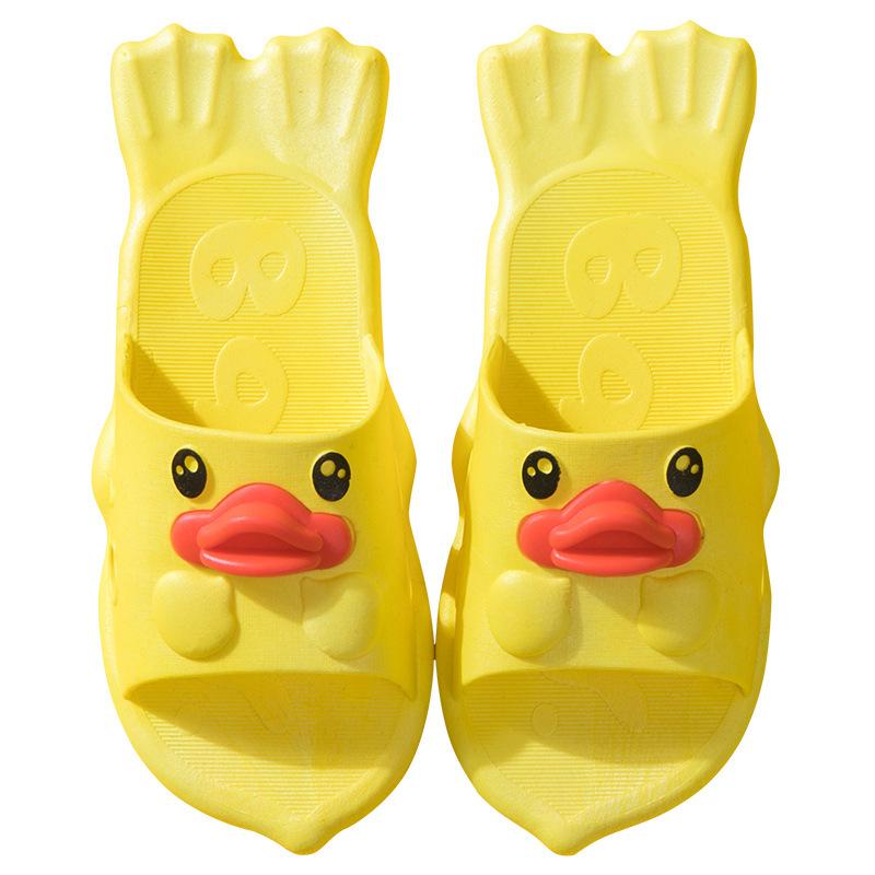 儿童凉拖鞋夏季女童男童鸭子卡通可爱室内软底防滑中大童亲子包邮