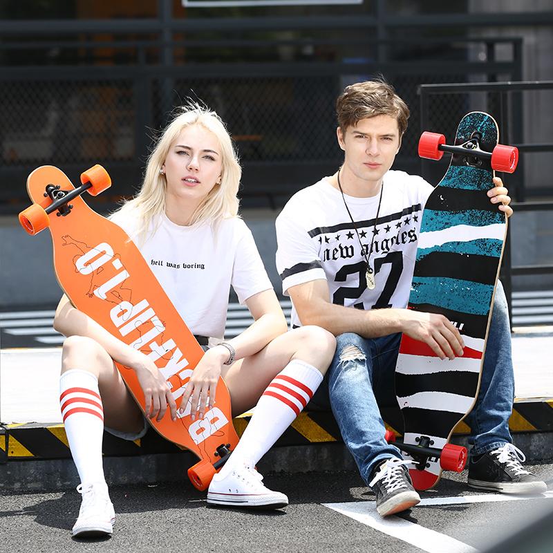 君立長板 公路滑板四輪滑板 刷街代步成人專業速降 滑板全能平板