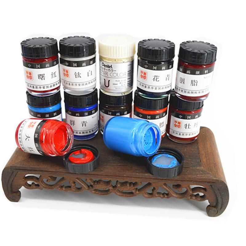 新品姜思序堂30ml瓶装国画颜料矿物质水溶颜彩工笔写意画染料色彩