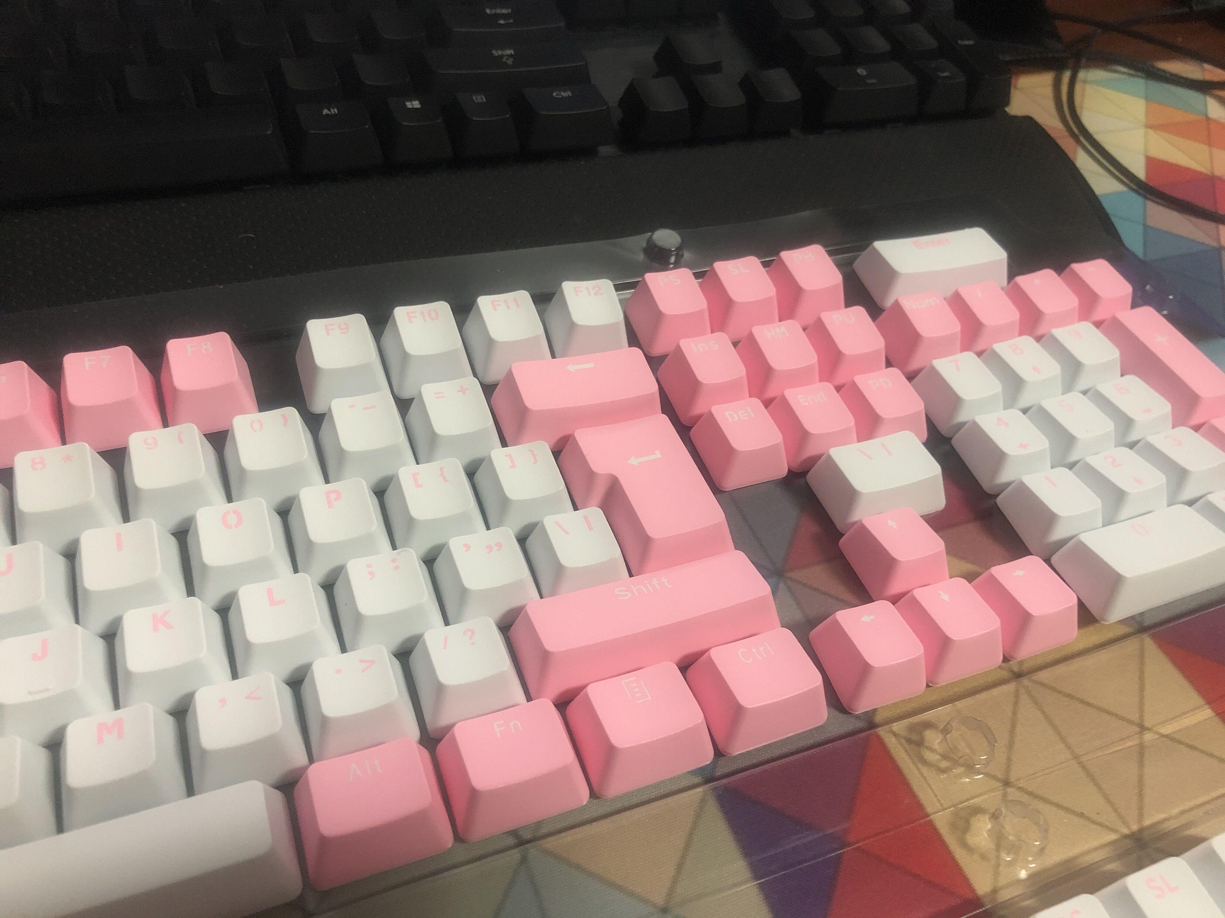 双色键帽二色成型耐磨十字轴 104ABSPBT 键帽机械键盘通用