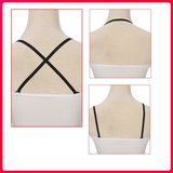 Fine with cross straps hanging neck America back sexy underwear Invisible bra strap accessories female bra strap slip summer