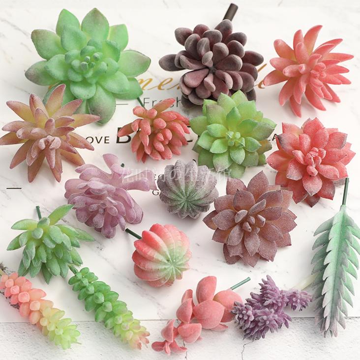 仿真多肉植物ins北欧假花绿植墙室内家居装饰品摆件组合盆栽套装