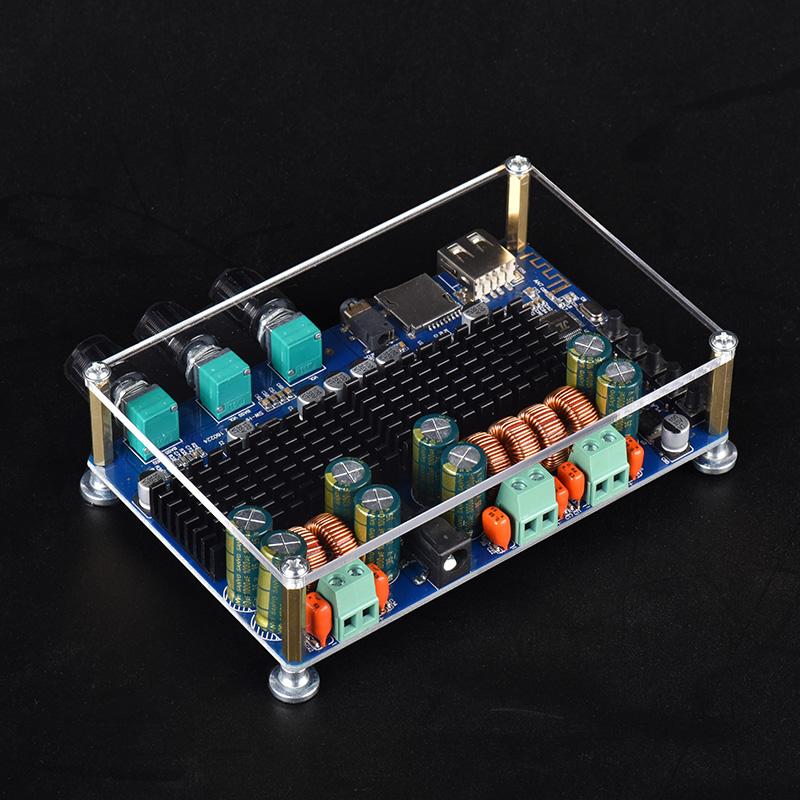 蓝牙功放板大功率模块2.1声道发烧级低音炮改装电路数字TF解码
