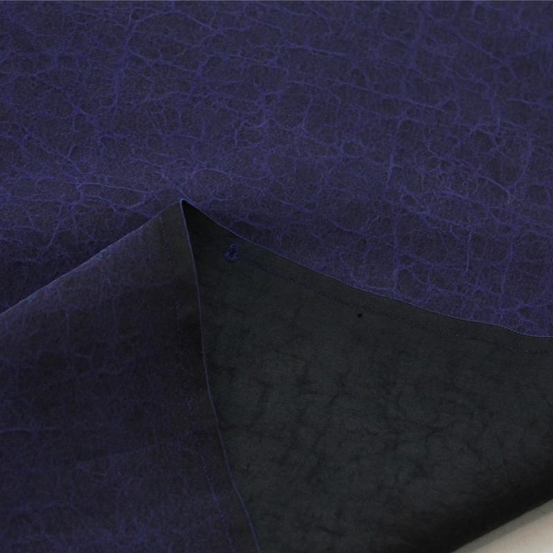 100%桑蚕丝龟纹香云纱面料 真丝布料纯色 正宗顺德拷莨绸服饰布料