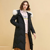 Warm Channel Oversized Real Fur Collar Down Jacket Female Fox Fur Collar Duck Down Jacket
