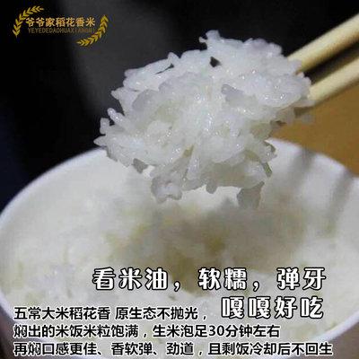 2019年新米东北大米黑龙江农家米粳米正宗五常稻花香大米5kg包邮 - 图0