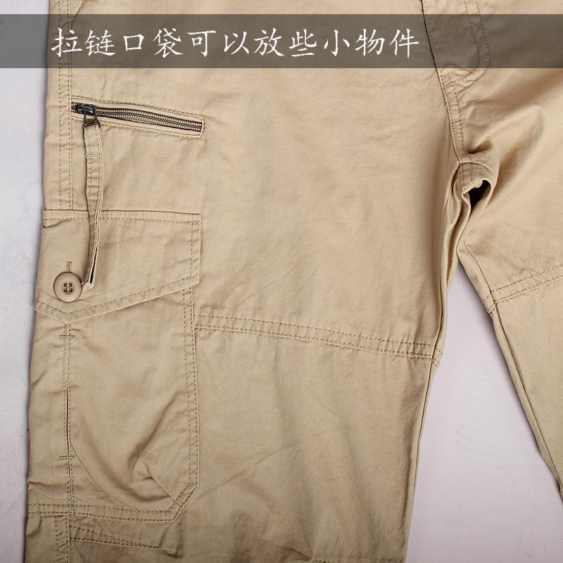 工装裤男多口袋战术裤纯棉夏季新款工作裤宽松大码休闲裤男长裤子