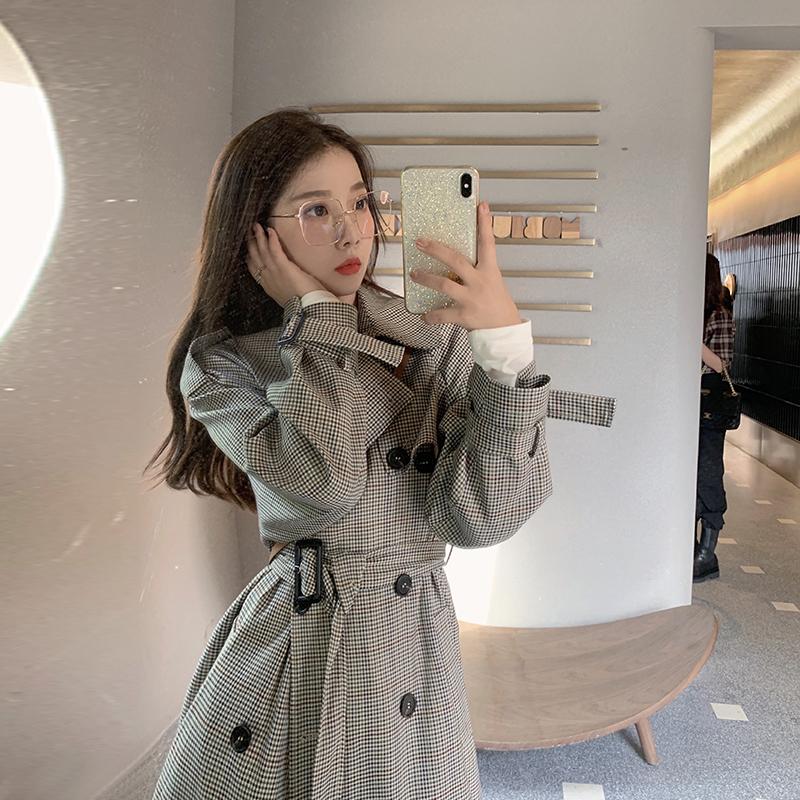 新中长款韩版宽松小个子流行大衣外套 2020 三十而已经典气质风衣女