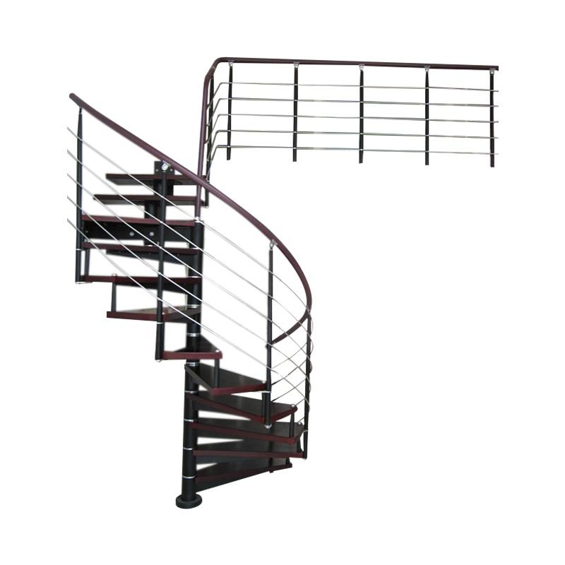 双梁钢木室内阁楼复式跃层loft简约实木铁艺踏步踏板厂家楼梯定制